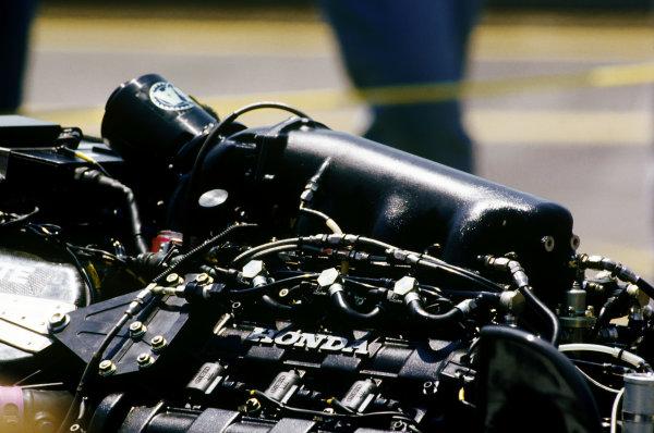 Adelaide, Australia.11-13 November 1988.Last race for the Honda V6 Turbo, detail.World Copyright: LAT Photographic.Ref:  88AUS28.