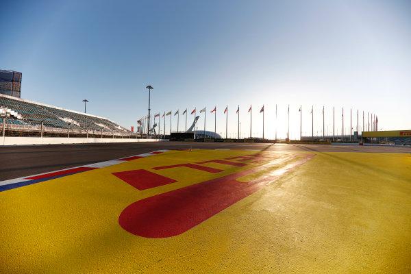 Sochi Autodrom, Sochi, Russia. Thursday 27 April 2017. A scenic view of the Sochi Autodrom, including Pirelli signage.  World Copyright: Glenn Dunbar/LAT Images ref: Digital Image _X4I5456