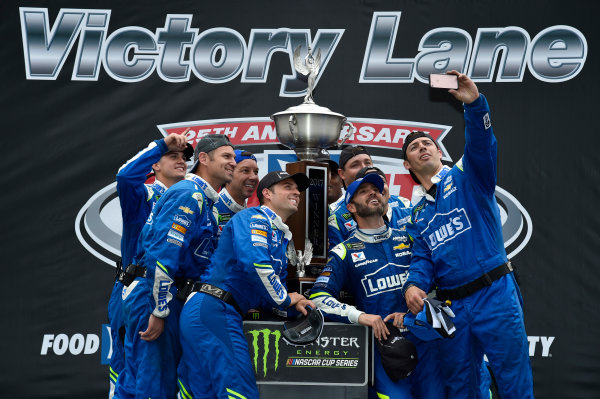 Monster Energy NASCAR Cup Series Food City 500 Bristol Motor Speedway, Bristol, TN USA Monday 24 April 2017 Jimmie Johnson celebrates his win in Victory Lane World Copyright: Nigel Kinrade LAT Images ref: Digital Image _RJ48313