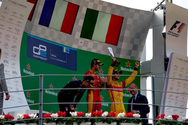 2016 GP2 Series Round 9. Autodromo Nazionale di Monza, Monza, Italy. Sunday 4 September 2016. Pierre Gasly (FRA, PREMA Racing), Norman Nato (FRA, Racing Engineering), Antonio Giovinazzi (ITA, PREMA Racing)  Photo: Zak Mauger/GP2 Series Media Service. ref: Digital Image _L0U6176