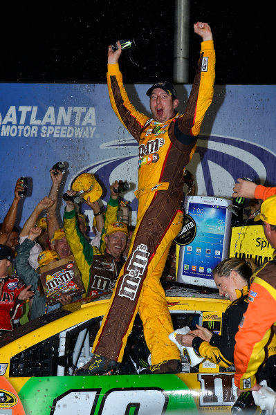 August 30 - September 1, 2013, Hampton, Georgia USA Kyle Busch, M&M's Toyota Camry in Victory Lane © 2013, Brian Czobat LAT Photo USA