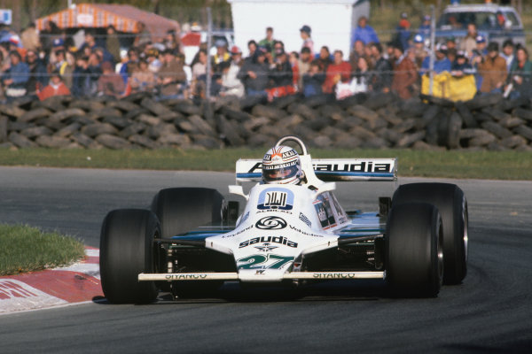 1980 Canadian Grand Prix.  Montreal, Canada. 26-28th September 1980.  Alan Jones, Williams FW07B Ford, 1st position.  Ref: 80CAN01. World Copyright: LAT Photographic