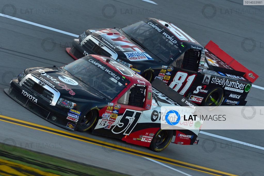 October 18-19, 2013, Talladega, Alabama USA Kyle Busch and David Starr trucks © 2013, Brian Czobat LAT Photo USA