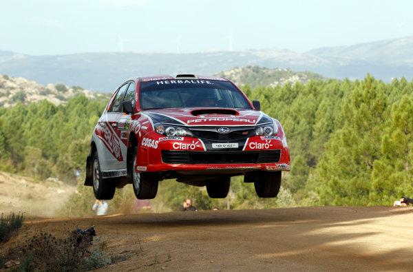 Round 12, Rally d'Italia Sardinia 201218th - 21st October 2012Nicolas Fuchs, Subaru, actionWorldwide Copyright: McKlein/LAT