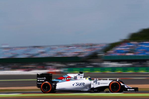 Silverstone Circuit, Northamptonshire, England. Friday 3 July 2015. Felipe Massa, Williams FW37 Mercedes. World Copyright: Alastair Staley/LAT Photographic ref: Digital Image _R6T3659
