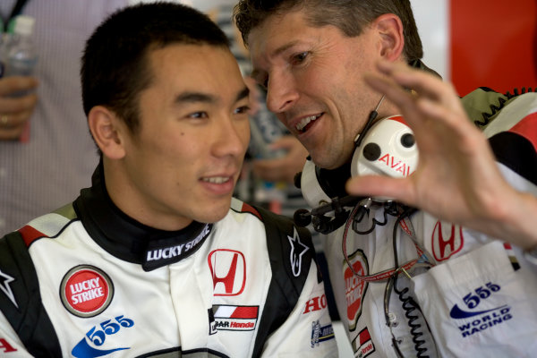 2005 European Grand Prix - Friday Practice Nurburgring, Germany 27th May 2005Takuma Sato, BAR Honda 007 with Nick Fry, portrait World Copyright: Steven Tee/LAT Photographic ref:Digital Image Only 48mb file.