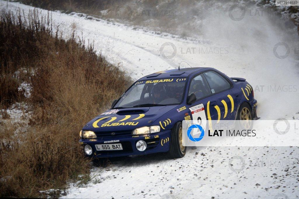 1993 World Rally Championship.Lombard RAC Rally, Great Britain. 21-24 November 1993.Colin McRae/Derek Ringer (Subaru Legacy RS), retired.World Copyright: LAT PhotographicRef: 35mm transparency 93RALLY20