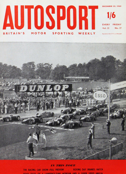 Cover of Autosport magazine, 30th December 1960