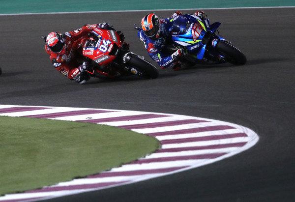Andrea Dovizioso, Ducati Team,  Alex Rins, Team Suzuki MotoGP.