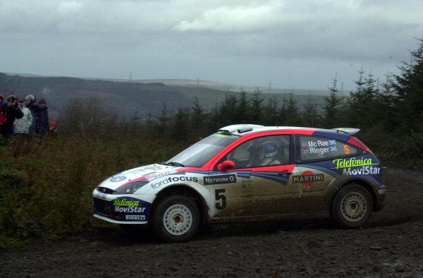 2002 World Rally Championship.Network Q Rally of Great Britain, Cardiff. November 14-17. Colin McRae during shakedown.Photo: Ralph Hardwick/LAT
