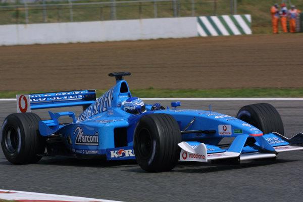2001 Spanish Grand PrixCatalunya, Barcelona, Spain. 27-29 April 2001.Giancarlo Fisichella (Benetton B201 Renault).World Copyright - Elford/LAT Photographicref: 8 9 MB Digital File