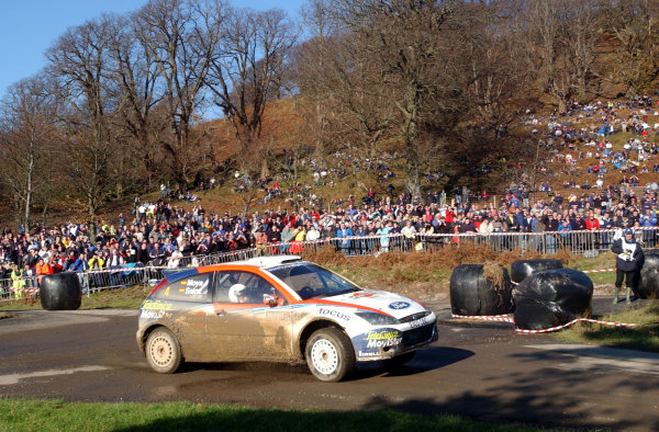 2002 World Rally Championship.Network Q Rally of Great Britain, Cardiff. November 14-17. Carlos Sainz in action on Stage 16, Margam 1.Photo: Ralph Hardwick/LAT