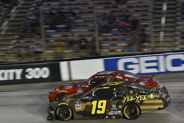 #6: Ryan Vargas, JD Motorsports, Chevrolet Camaro Voyager, #19: Brandon Jones, Joe Gibbs Racing, Toyota Supra YeeYee