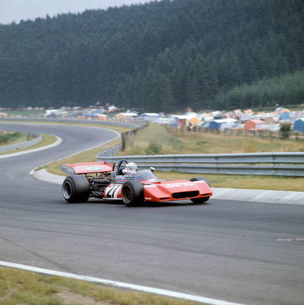 1972 German Grand Prix.Nurburgring, Germany. 28-30 July 1972. Derek Bell (Tecno PA123). Ref-3/5126E. World Copyright - LAT Photographic