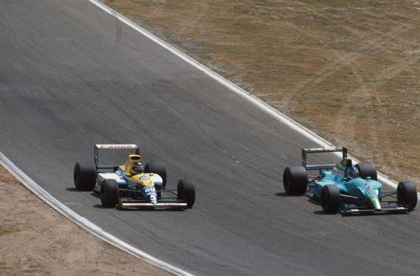 Thierry Boutsen, Williams, and Ivan Capelli, Leyton House