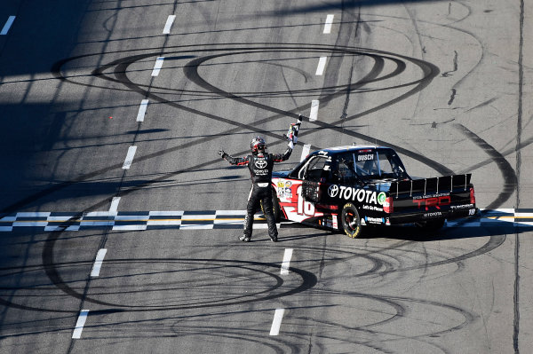 1-2 April, 2016, Martinsville, Virginia USA Kyle Busch (18) celebrates after winning. ©2016, John Harrelson / LAT Photo USA