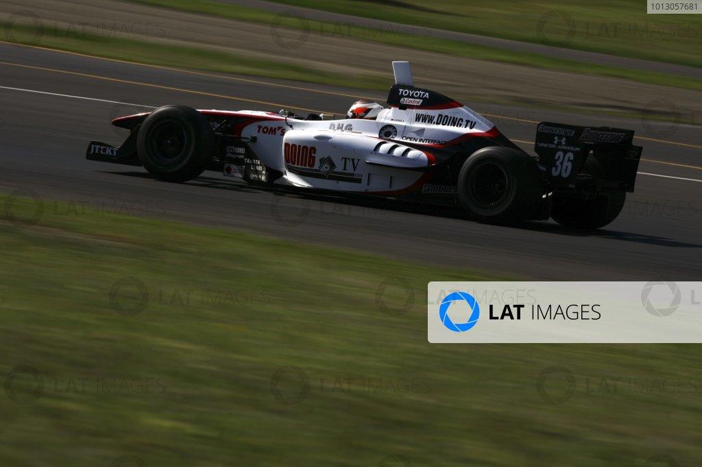 2007 Formula Nippon ChampionshipTwinring Motegi, Japan.19th - 20th May 2007Andre Lotterer (DHG Tom's), 2nd position, action.World Copyright: Yasushi Ishihara/LAT Photographicref: Digital Image 2007_FN_Rd3_015