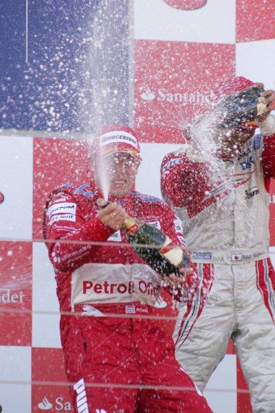 2007 GP2 Series Round 5. Silverstone, England. 8th July 2007. Sunday Race.Adam Carroll (GBR, Petrol Ofisi FMS International) celebrates victory. World Copyright: Alastair Staley/GP2 Series Media Service.ref: Digital Image IMG_2502