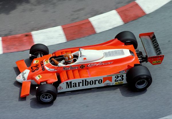 1980 Monaco Grand Prix.Monte Carlo, Monaco.15-18 May 1980.Bruno Giacomelli (Alfa Romeo 179).Ref-80 MON 34.World Copyright - LAT Photographic