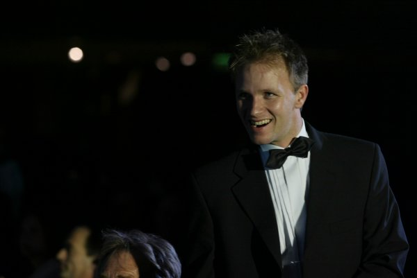 2003 AUTOSPORT AWARDS, The Grosvenor, London. 7th December 2003.Petter Solberg makes his way to the stage to collect International Rally Driver of the year.Photo: Peter Spinney/LAT PhotographicRef: Digital Image only