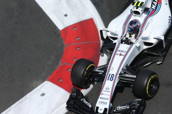 Baku City Circuit, Baku, Azerbaijan. Friday 23 June 2017. Lance Stroll, Williams FW40 Mercedes. World Copyright: Charles Coates/LAT Images ref: Digital Image AX0W5910