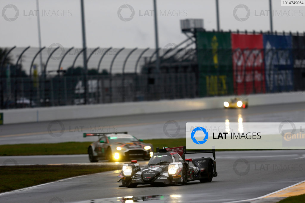 2017 Rolex 24 Hours. Daytona, Florida, USA Sunday 29 January 2017. #13 Rebellion Racing ORECA 07: Neel Jani, S?bastien Buemi, St?phane Sarrazin, Nick Heidfeld World Copyright: Alexander Trienitz/LAT Images ref: Digital Image 2017-24h-Daytona-AT1-5656