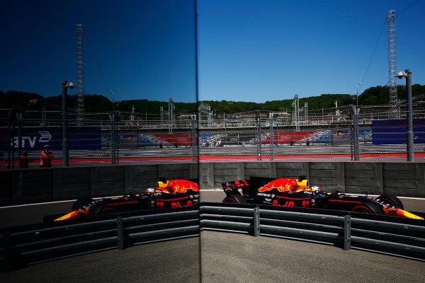 Sochi Autodrom, Sochi, Russia. Friday 28 April 2017. Daniel Ricciardo, Red Bull Racing RB13 TAG Heuer.  World Copyright: Andy Hone/LAT Images ref: Digital Image _ONY9258