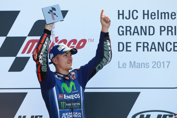 2017 MotoGP Championship - Round 5 Le Mans, France Sunday 21 May 2017 Winner Maverick Viñales, Yamaha Factory Racing World Copyright: Gold & Goose Photography/LAT Images ref: Digital Image 671747