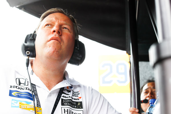 Verizon IndyCar Series Indianapolis 500 Race Indianapolis Motor Speedway, Indianapolis, IN USA Sunday 28 May 2017 Zak Brown, McLaren. World Copyright: Steven Tee/LAT Images ref: Digital Image _R3I8744