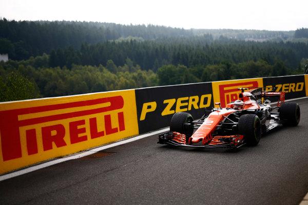 Spa Francorchamps, Belgium.  Saturday 26 August 2017. Stoffel Vandoorne, McLaren MCL32 Honda.  World Copyright: Andy Hone/LAT Images  ref: Digital Image _ONY3844