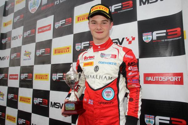 2017 BRDC British F3 Championship, Donington Park, Leicestershire. 23rd - 24th September 2017. Ben Hingeley (GBR) Fortec Motorsports BRDC F3 World Copyright: JEP/LAT Images