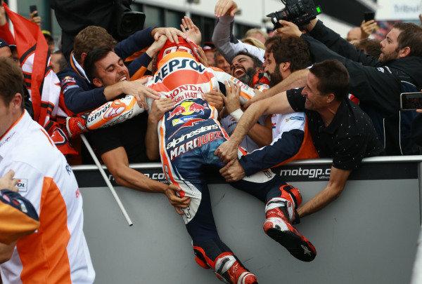 2017 MotoGP Championship - Round 13 Misano, Italy. Sunday 10 September 2017 Race winner Marc Marquez, Repsol Honda Team World Copyright: Gold and Goose / LAT Images ref: Digital Image 7934