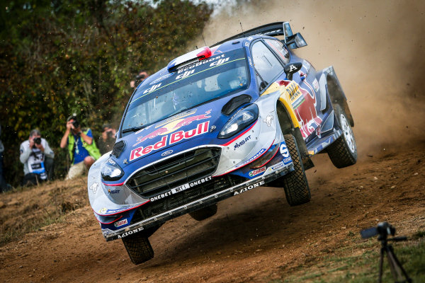 2017 FIA World Rally Championship, Round 11, Rally RACC Catalunya / Rally de España, 5-8 October, 2017, Sebastien Ogier, Ford, action, Worldwide Copyright: LAT/McKlein