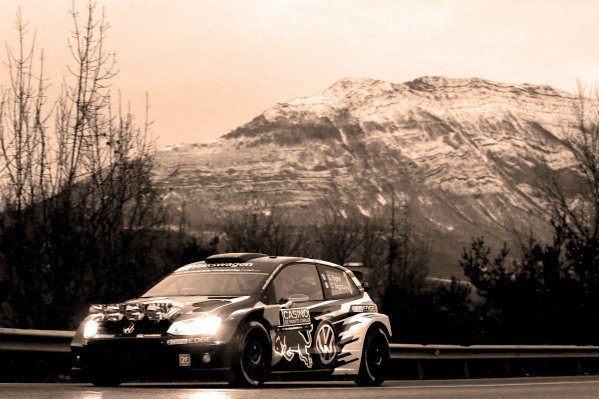 www.sutton-images.com -  Sebastien Ogier (FRA) / Julien Ingrassia (FRA), Volkswagen Polo R WRC at the FIA World Rally Championship, Rd1, Rally Monte Carlo, Preparatons and Shakedown, Monte Carlo, 22 January 2015. Photo Sutton Images