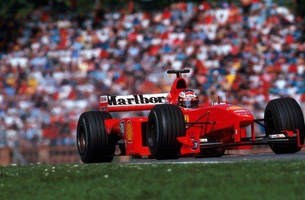 Race winner Michael Schumacher (GER) Ferrari F399.San Marino Grand Prix, Imola, Italy, 2 May 1999.