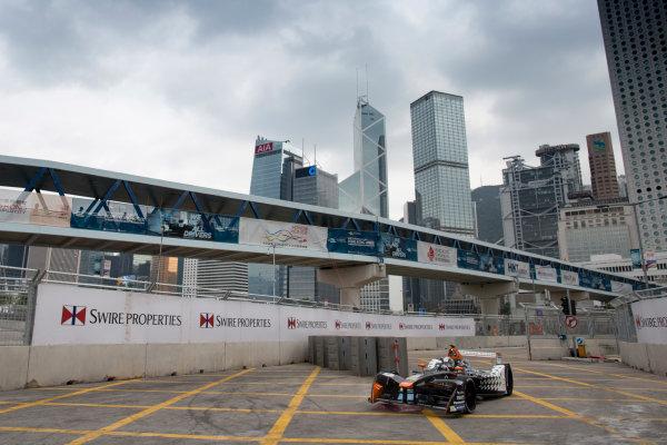 2016/2017 FIA Formula E Championship. Hong Kong ePrix, Hong Kong, China. Saturday 8 October 2016. Jerome D'Ambrosio (BEL), Dragon Racing, Spark-Penske, Penske 701-EV.  Photo: Alastair Staley/LAT/Formula E ref: Digital Image 580A9188