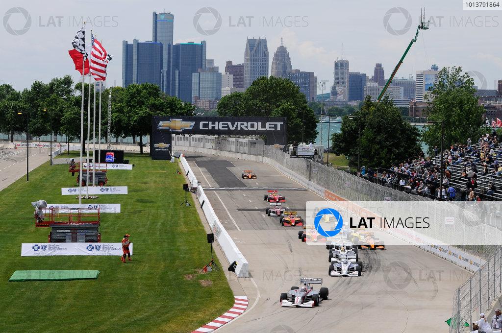 1-2 June, 2012, Detroit, Michigan, USAOliver Webb leads the field at the start(c)2012, Camden ThrasherLAT Photo USA