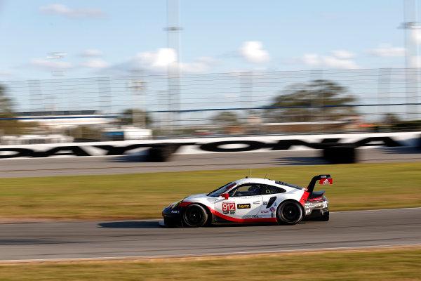 2017 WeatherTech Sportscar Championship December Daytona Testing Wednesday 6 December 2017 #912 Porsche Team North America Porsche 911 RSR: Patrick Pilet, Laurens Vanthoor  World Copyright: Alexander Trienitz/LAT Images  ref: Digital Image 2017-IMSA-Test-Dayt-AT2-1040