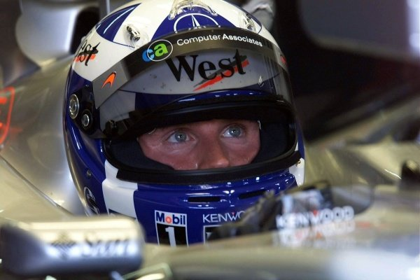 David Coulthard(GBR) McLaren Mercedes MP4-16 German Grand Prix Practice, Hockenheim 27 July 2001 DIGITAL IMAGE