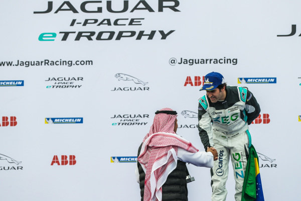 2nd position Sérgio Jimenez (BRA), Jaguar Brazil Racing on the podium