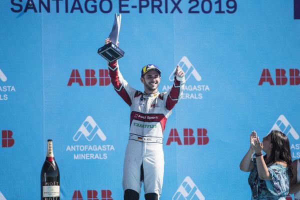 Daniel Abt (DEU), Audi Sport ABT Schaeffler celebrates 3rd position on the podium