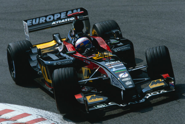 2002 Belgian Grand Prix.Spa-Francorchamps, Belgium. 30/8-1/9 2002.Anthony Davidson (Minardi PS02 Asiatech).Ref-02 BEL 42.World Copyright - Clive Rose/LAT Photographic