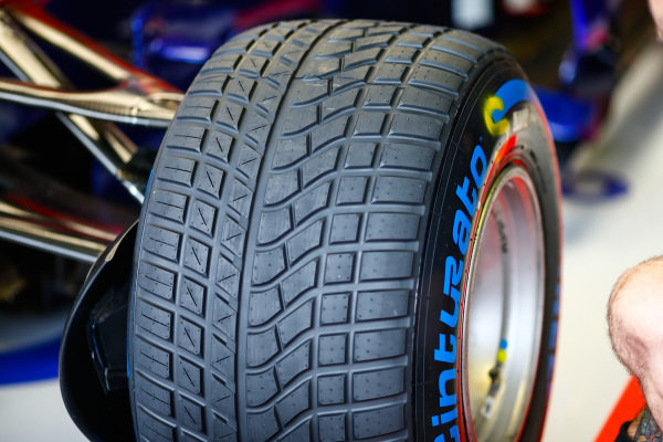 Tyre of Pierre Gasly, Toro Rosso STR13 Honda.