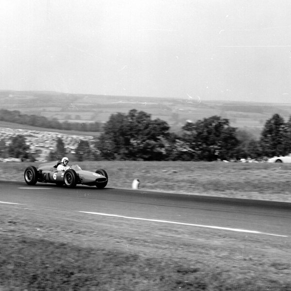 1961 United States Grand Prix, Watkins Glen, USA.8 October 1961.Roger Penske (Cooper T53-Climax), 8th position.Ref-10974.World - LAT Photographic