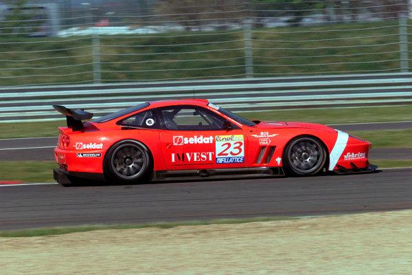 2002 FIA GT ChampionshipMagny-Cours, France. 19th - 21st April 2002.Deletraz / Piccini, Ferrari 550 Maranello, action.World Copyright: Photo 4/LAT Photographicref: Digital Image Only