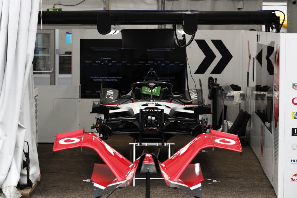 A view of the Tag Heuer Porsche garage