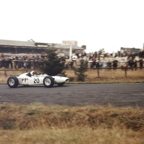 1964 German Grand Prix.Nurburgring, Germany.31/7-2/8 1964.Ronnie Bucknum (Honda RA271).Ref-1385.World Copyright - LAT Photographic