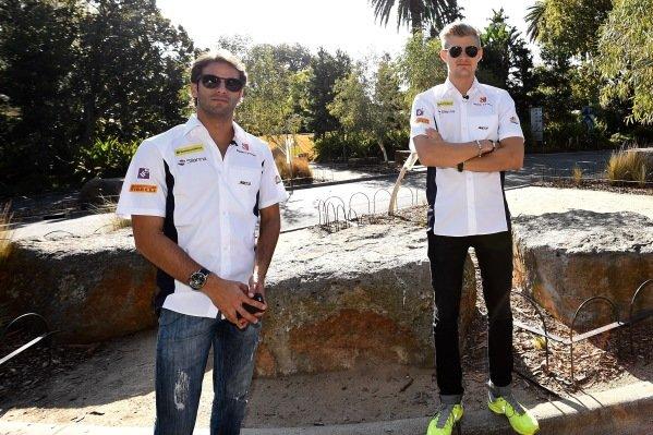 Marcus Ericsson (SWE) Sauber and Felipe Nasr (BRA) Sauber visit Melbourne Zoo at Formula One World Championship, Rd1, Australian Grand Prix, Preparations, Albert Park, Melbourne, Australia, Wednesday 16 March 2016.