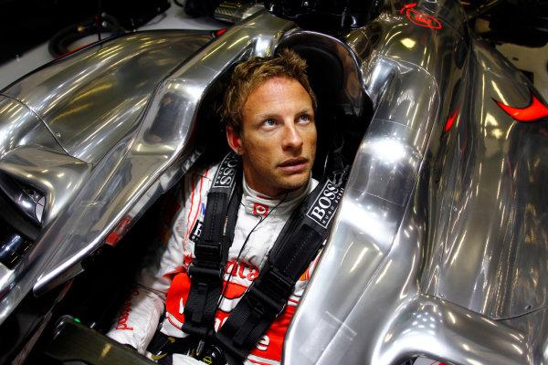Spa-Francorchamps, Spa, Belgium25th August 2011.Jenson Button, McLaren MP4-26 Mercedes. Portrait. World Copyright: Steven Tee/LAT Photographicref: Digital Image _A8C3973