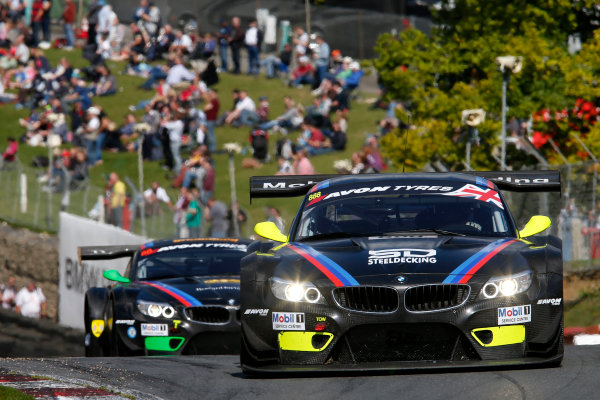2014 Avon Tyres British GT Championship, Brands Hatch, Kent. 30th - 31st August 2014. Derek Johnston / Joe Osborne 888 BMW Z4 GT3. World Copyright: Ebrey / LAT Photographic.